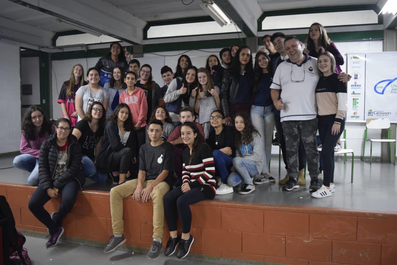 Mostra de Cinema recebe escola de Campo Bom