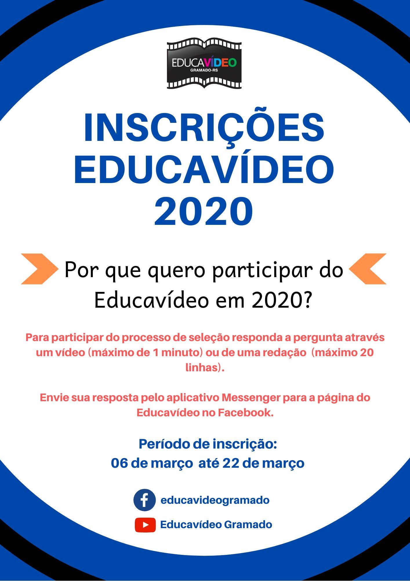 Educavídeo abre inscrições para novos alunos